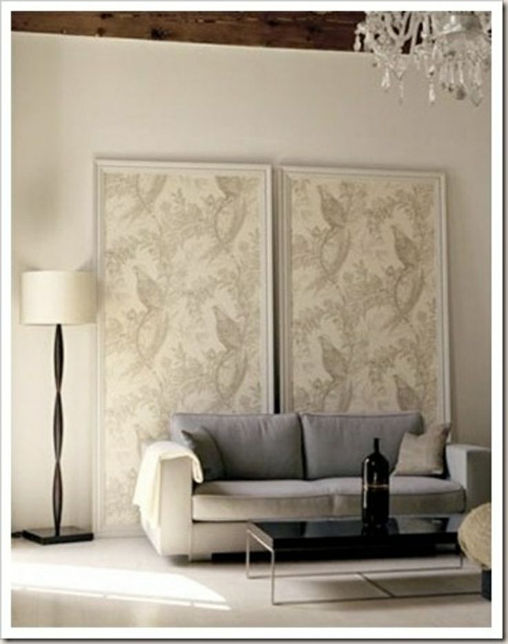 At last got my idea for using the cavalli wallpaper without gluing it 2 the wall Creative Ideas for Using Wallpaper