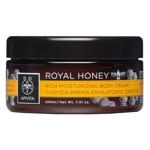 ROYAL HONEY Rich Moisturizing Body Cream with honey. #RichMoisturization and #Nourishment #Protection and #Rejuvenation #Elasticity and #SubtleScent Rich texture cream for moisturization and nourishment inspired by the unique attributes of honey. It leaves the skin exceptionally soft and uniquely scented thanks to its special sweet scent that maintains the aromatic identity of honey unaltered. Read more at www.apivita.com