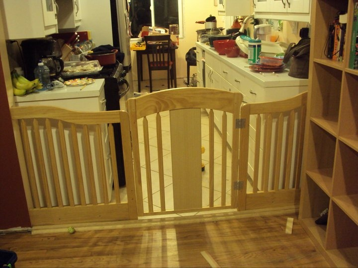 Baby Gate Made From Baby Crib For Large Opening Dog Gate