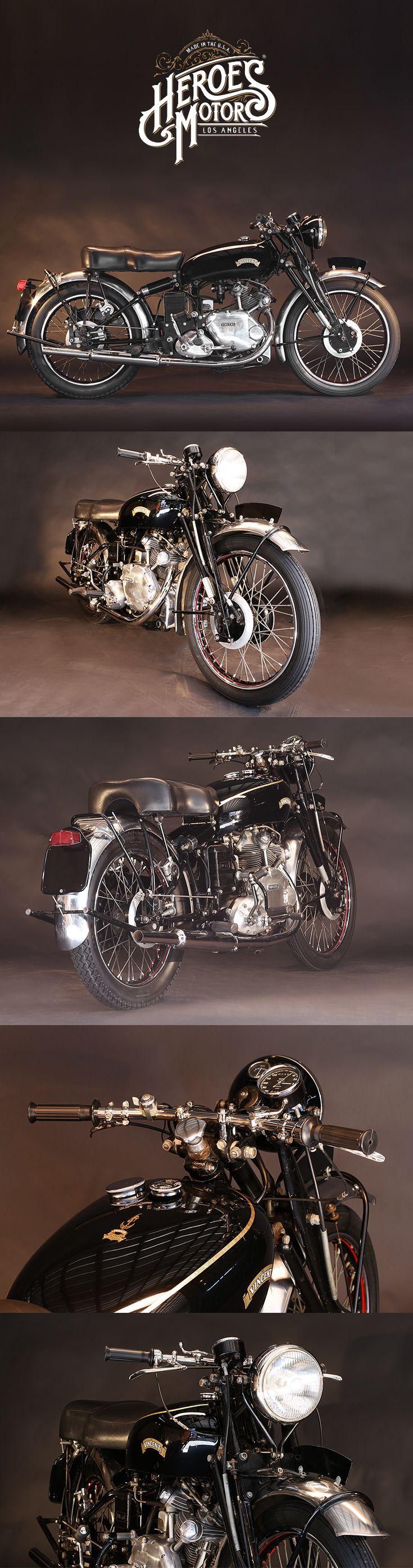 1951 VINCENT 500cc COMET #forsale #heroesmotors #caferacer #vintagemotorcycles #triumph #harleydavidson #losangeles #california #norton #vincent #indian #classicmotorcycles #ateliersbueno #photosergebueno