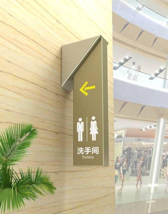 Restroom Directional Signage