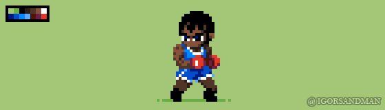 313/365 pixel art : Balrog - Street Fighter by igorsandman