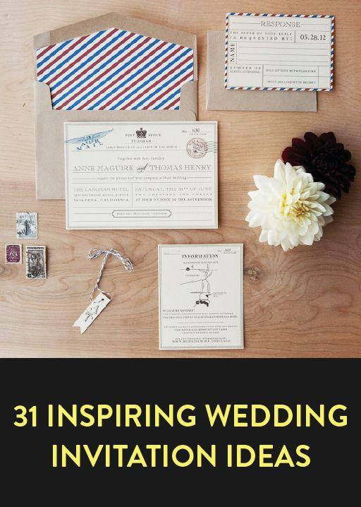 31 wedding invite ideas