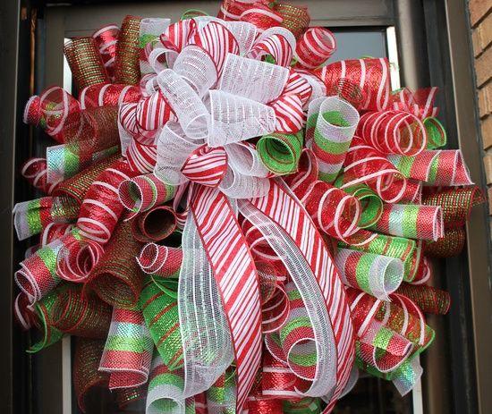 Deco Mesh Wreath How To   Deco-mesh wreath ideas / christmas wreaths - Bing Images