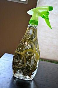 DIY Essigreiniger mit Lemon und Rosmarin :: Reinigungsessig 1:4 mit Wasser auffüllen, Zitrone und Rosmarin ergänzen // Mit Backsoda zusammen zur Tiefenreinigung geeignet