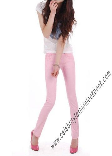 Baby Pink Skinny Jeans - Jeans - Bottoms - Clothing US$14.99 Free shipping Worldwide  #fashion #jeans #pink #skinny #denim