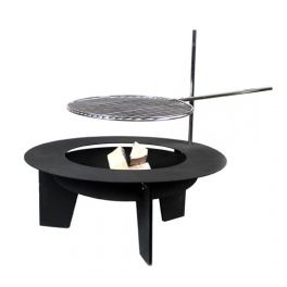 Big, exclusive grill with a fireplace and a swivel grate. Height of the grate is adjustable. Made by Neo-Spiro.
