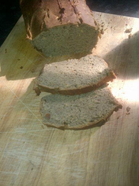 Homemade hemp bread