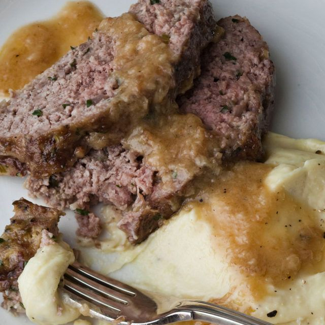 1770 House Meatloaf with Garlic Sauce- Barefoot Contessa