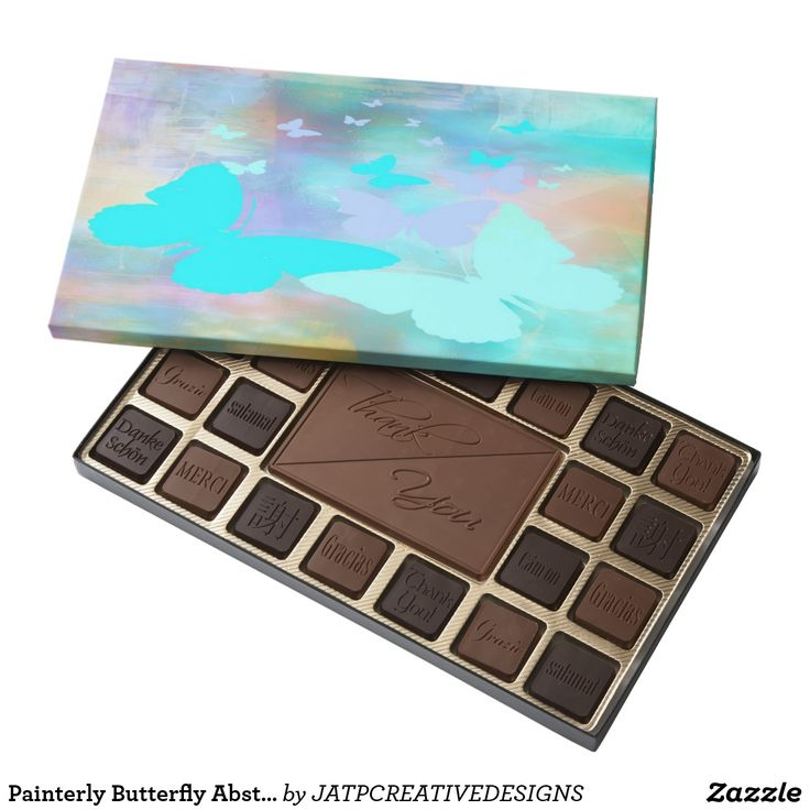 Painterly Butterfly Abstract Chocolate Box