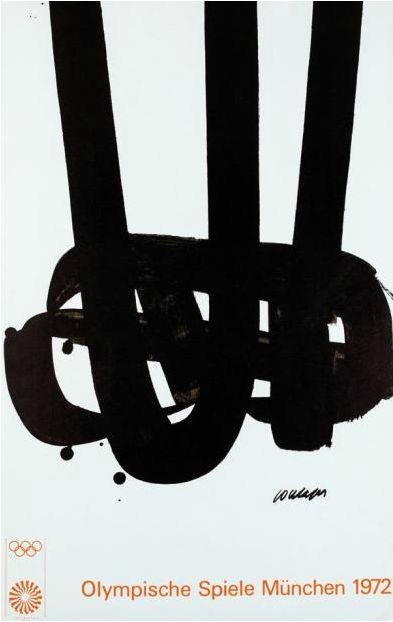 Poster by Pierre Soulages, 1972, Jeux Olympiques de München.