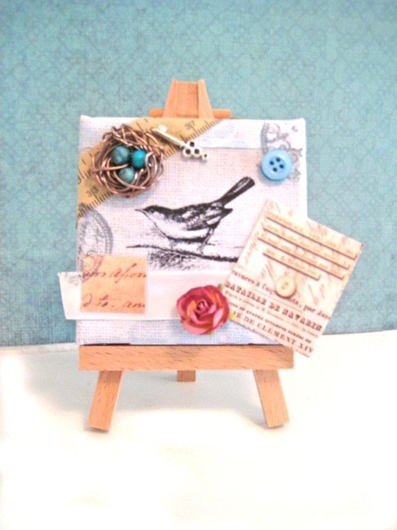 73 best images about mixed media and things on for Things to do with mini canvases