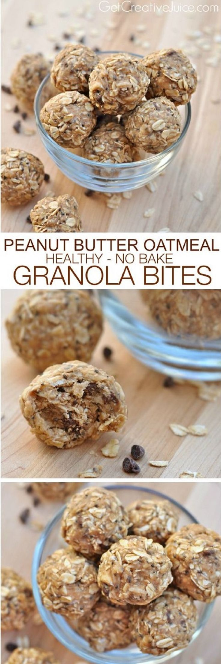 Peanut Butter Oatmeal Power Bites - 17 Beneficial Protein Bites for Weight Loss | GleamItUp