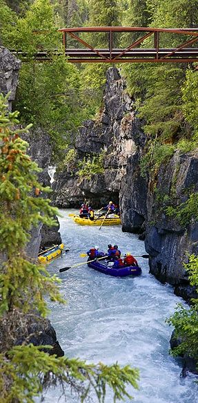Whitewater rafting at Six Mile Creek on the Kenai Peninsula in the Chugach National Forest of Alaska • photo: Ron Niebrugge on Wild Nature Images