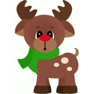 Silhouette Design Store - View Design #48446: rudy the reindeer standing christmas