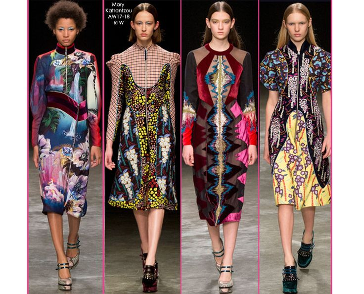 welcome the new season with a display of stunning patterns inspired by #marykatrantzou #aw17 catwalk looks SHOP THE TREND at STILORAMA.COM
