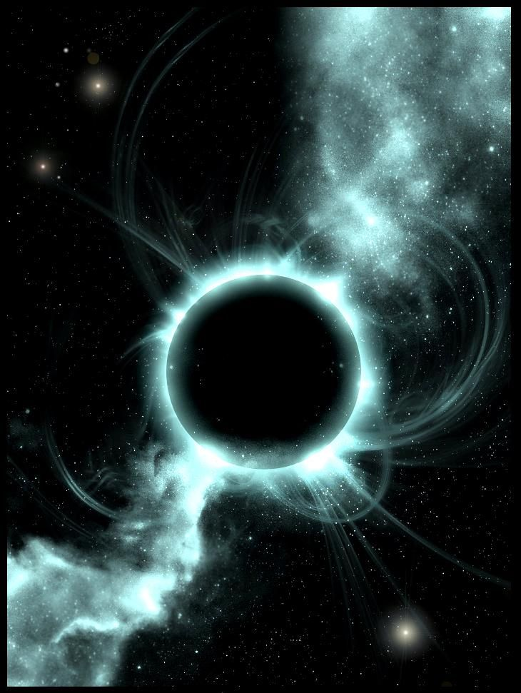 black holes in space in action - photo #7