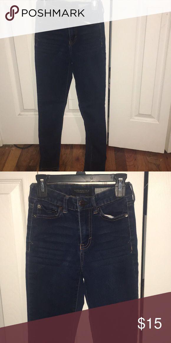 High waisted skinny jeans High waisted blue jeans Aeropostale Pants Skinny