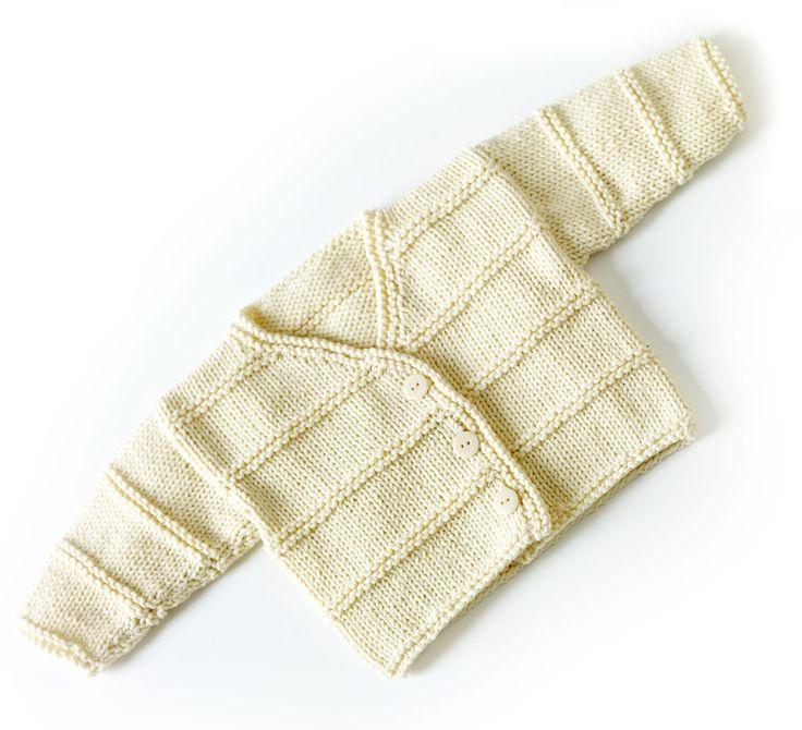 Free Knitting Pattern 70351AD Garter Ridge Baby Cardigan : Lion Brand ...