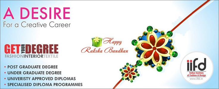 Happy Raksha bandhan to all !  Best Fashion Institute In Chandigarh For #Admission_Process Call @+91-9041766699 OR Visit @ www.iifd.in/  #iifd #best #fashion #designing #institute #chandigarh #mohali #punjab #design #admission #india #fashioncourse #himachal #InteriorDesigning #msc #creative #haryana #textiledesigning