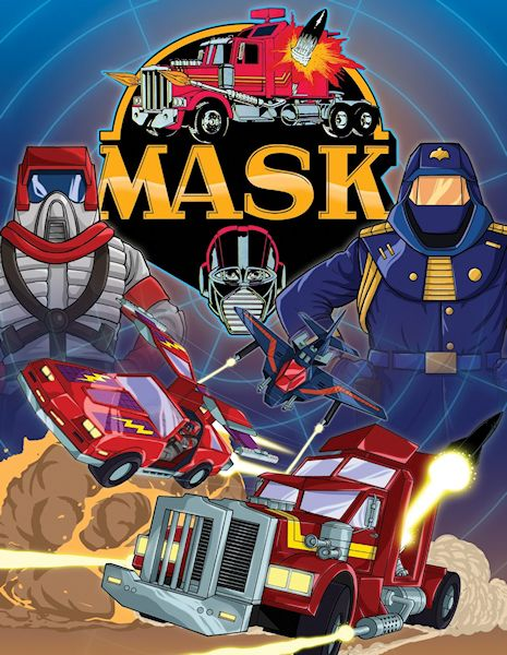 M.A.S.K. Mobile Armored Strike Kommand  [1985 - 1988]. This childhood cartoon had one of the best theme songs of any cartoon.