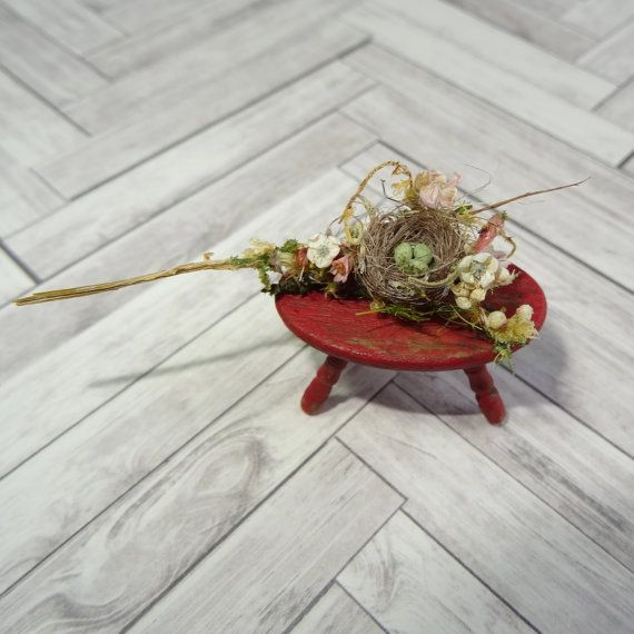 Hey, I found this really awesome Etsy listing at https://www.etsy.com/listing/292504041/dollhouse-miniature-bird-nest-fairy