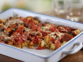 bobby flays tomato stratamade this for a yummy brunch today - Cheese Strata Recipes Brunch
