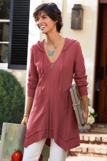 Sunrise Hoodie - French Terry Hoodie, Womens Hoodie Sweatshirt, Ladies Zipper Hoodie | Soft Surroundings
