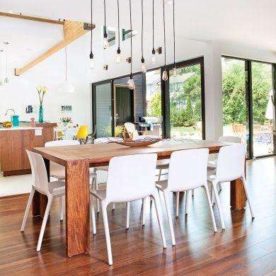 Salle à manger lumineuse dans une aire ouverte - Salle à manger - Inspirations - Décoration et rénovation - Pratico Pratiques