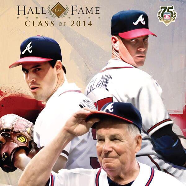 Bobby Cox, Tom Glavine, Greg Maddux.. HALL OF FAME 2014