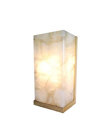 Cool Wall Lamps We Like Here @ http://rustiklight.com/lighting-set/wall-lights ------- << Original Comment >> ------- Rock Crystal Sconce | NIBA Home