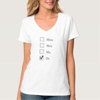 PhD women graduation V neck tee shirt