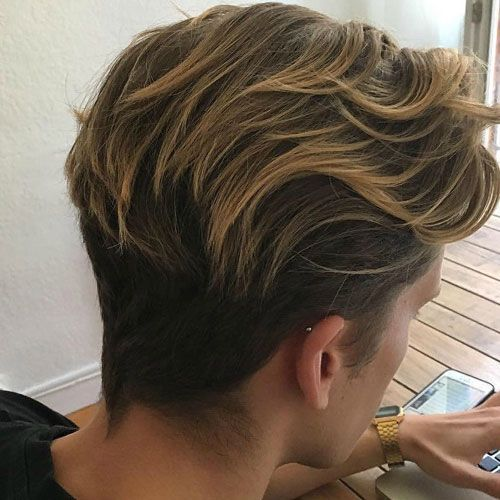 Flow Hairstyle - Long Wavy Hair Combed Back