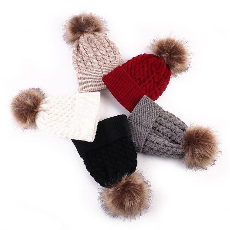 Newborn Super Soft Pom-Pom Hats