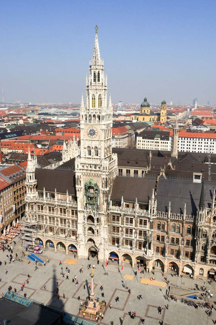 München Sehenswürdigkeiten - Top10 Reisetipps - Bavaria, Germany, Marienplatz, Oktoberfest, Allianz Arena, Olympiastadion, Mountains
