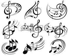Music notes Stock Vector