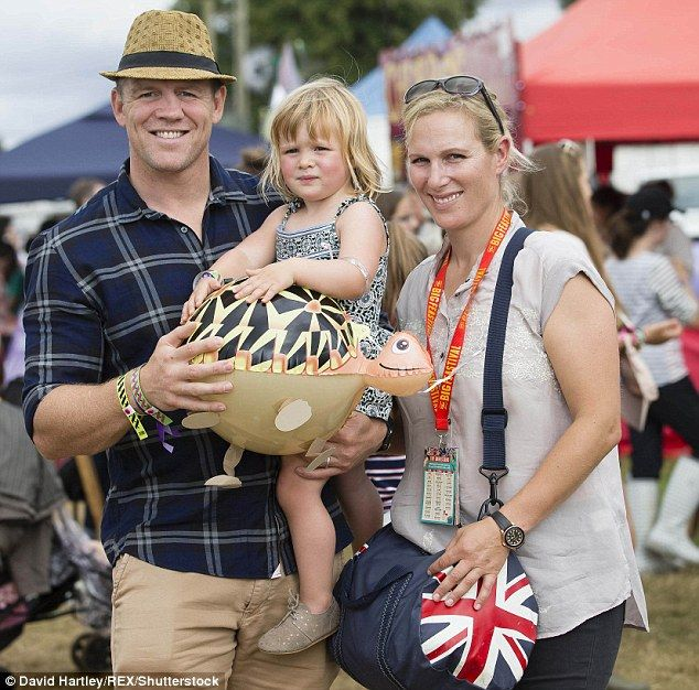 Threes about to become four! Zara Phillips and Mike Tindall, pictured with their daughter Mia in Oxfordshire in August, have announced they are thrilled to be expecting their second child