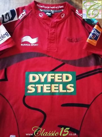 Relive Scarlets' 2012/2013 season with this original Burrda Sport home rugby shirt.