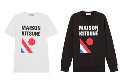 メゾン キツネのカプセルコレクション「Reishiki」日の丸×トリコロールのTシャツやスウェットなど