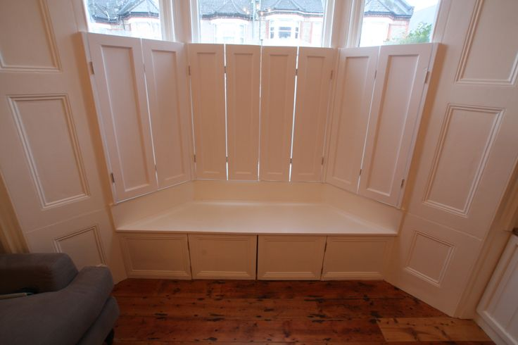Bay Window Seat And Storage Solution Built For Client