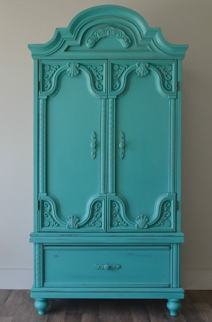 Detailed Wardrobe Dresser painted with Florence Chalk Paint® by The Funky Junk Shop