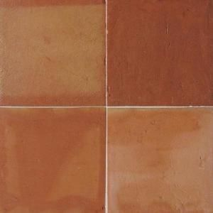 Saltillo 12 in. x 12 in. Antique Adobe Ceramic Floor Tile-ST8112121P at The Home Depot $4.oo a ft