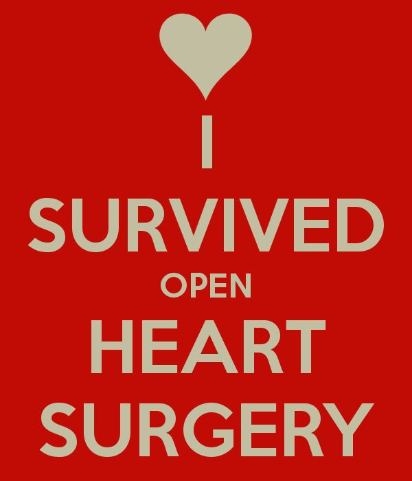 I survived heart surgery and now I go RED!!!!