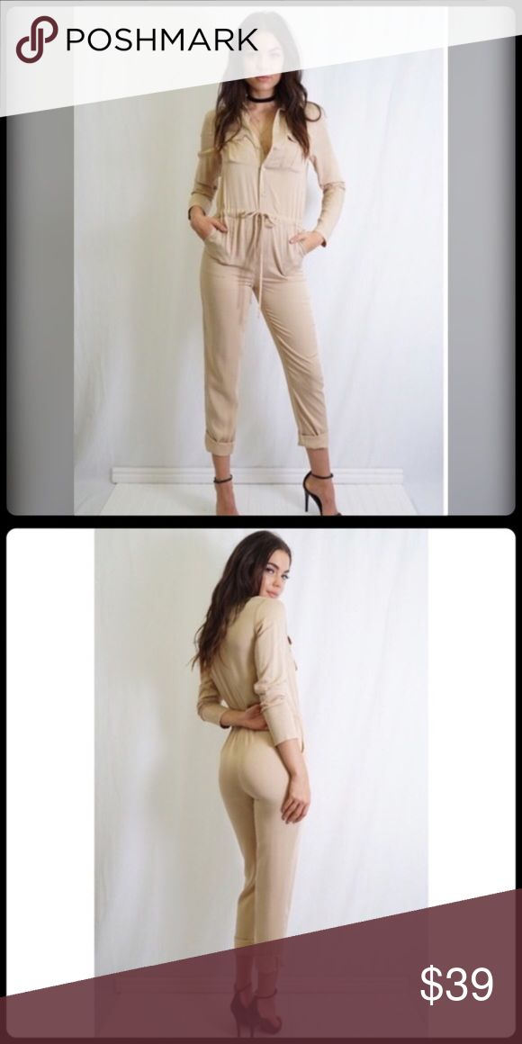 ✨🆕 UTILITY CAMEL JUMPSUIT ✨ NWT- Camel Utility Style Jumpsuit is comfy and stylish. Never worn. Perfect for any occasion. Tea n Cup Pants Jumpsuits & Rompers