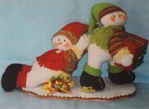 Molde Muñecos de nieve jugando
