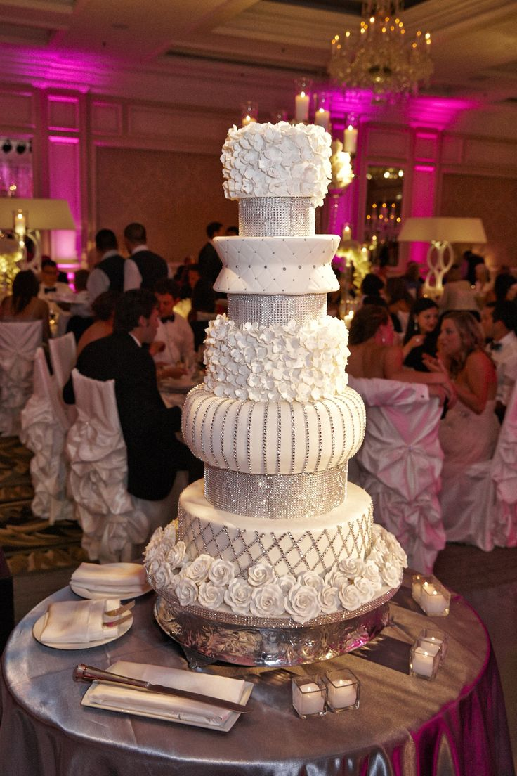 Rhinestone-Studded Cake