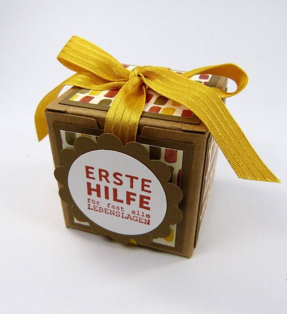 Stempelitis.de, Nutella hilft immer, Geschenk, Mini-Nutella, Stampin up, Verpackung, Mini-Geschenkschachteln, Schokolade