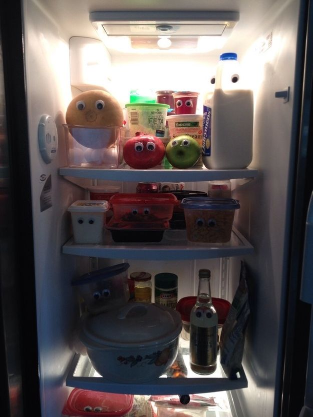 They should never be given access to googly eyes. | 24 Reasons Husbands Can't Be Trusted To Do Anything Right