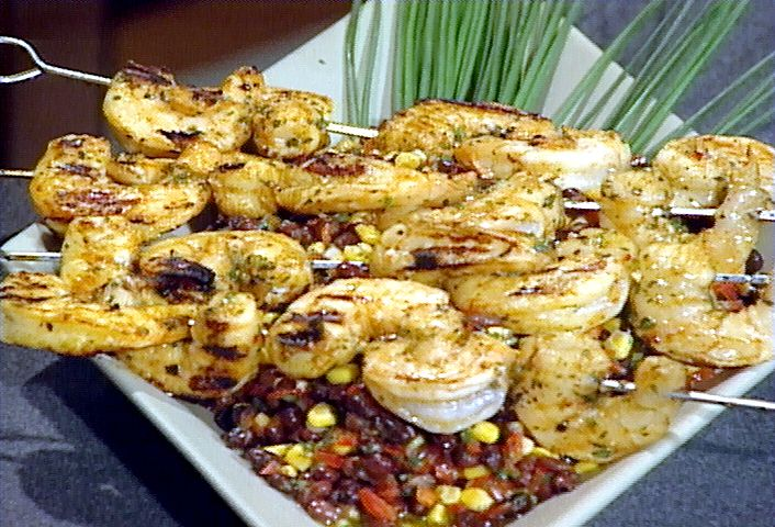 Spicy Barbecued Shrimp Skewers from FoodNetwork.com