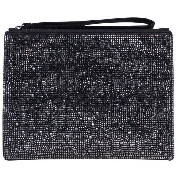 Carvela Gaye Clutch Bag ($66) ❤ liked on Polyvore featuring bags, handbags, clutches, evening clutches, man bag, sequin purse, sequin clutches and evening hand bags